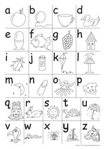 3 to 4 alphabet samples2 - Printable Worksheets For 4 Year Olds