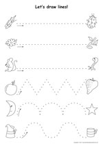 kindergarten worksheets worksheets for 4 year olds for math 4 to - Learning Printables For 2 Year Olds