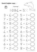 16 worksheets 4 to 5 year old maths sample2